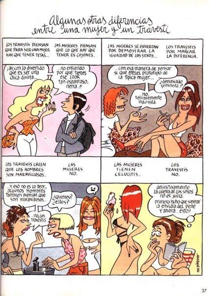 Diferencias entre ser mujer y ser travesti, por MAITENA