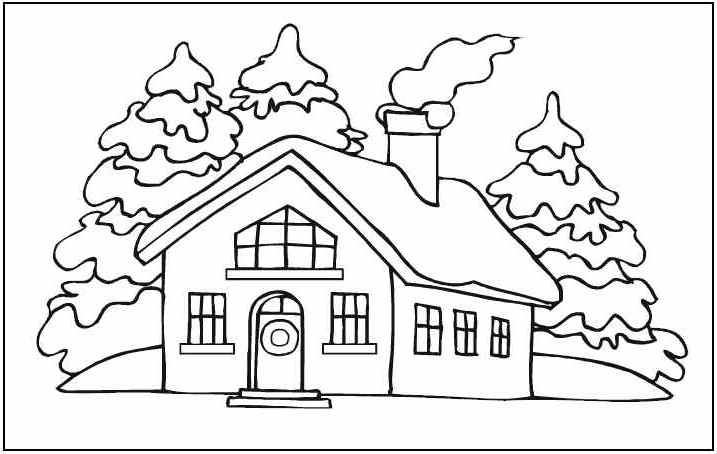 educational house coloring pages - Coloring Pages Houses Homes