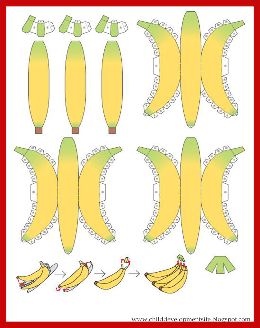 Банан объемный своими руками