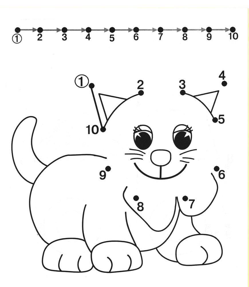 Раскраски цифры от 1 до 10 для