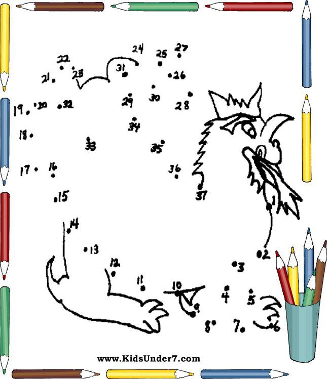 Best Dot to dot worksheets for Kids on KidsUnder7.com