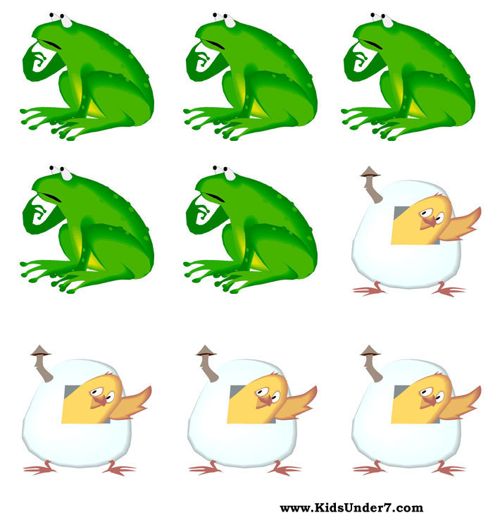 Tic-tac-toe Frog-Chicken. Tic-tac-toe Fruitcake-Kola