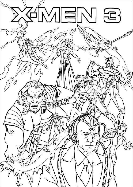Kids Under 7 X Men Coloring Pages