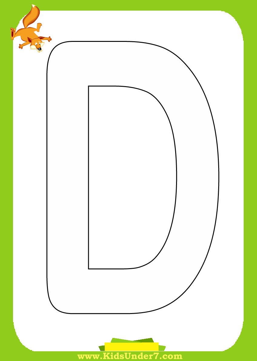 Letter d coloring pages for toddlers - Letter D Coloring Page