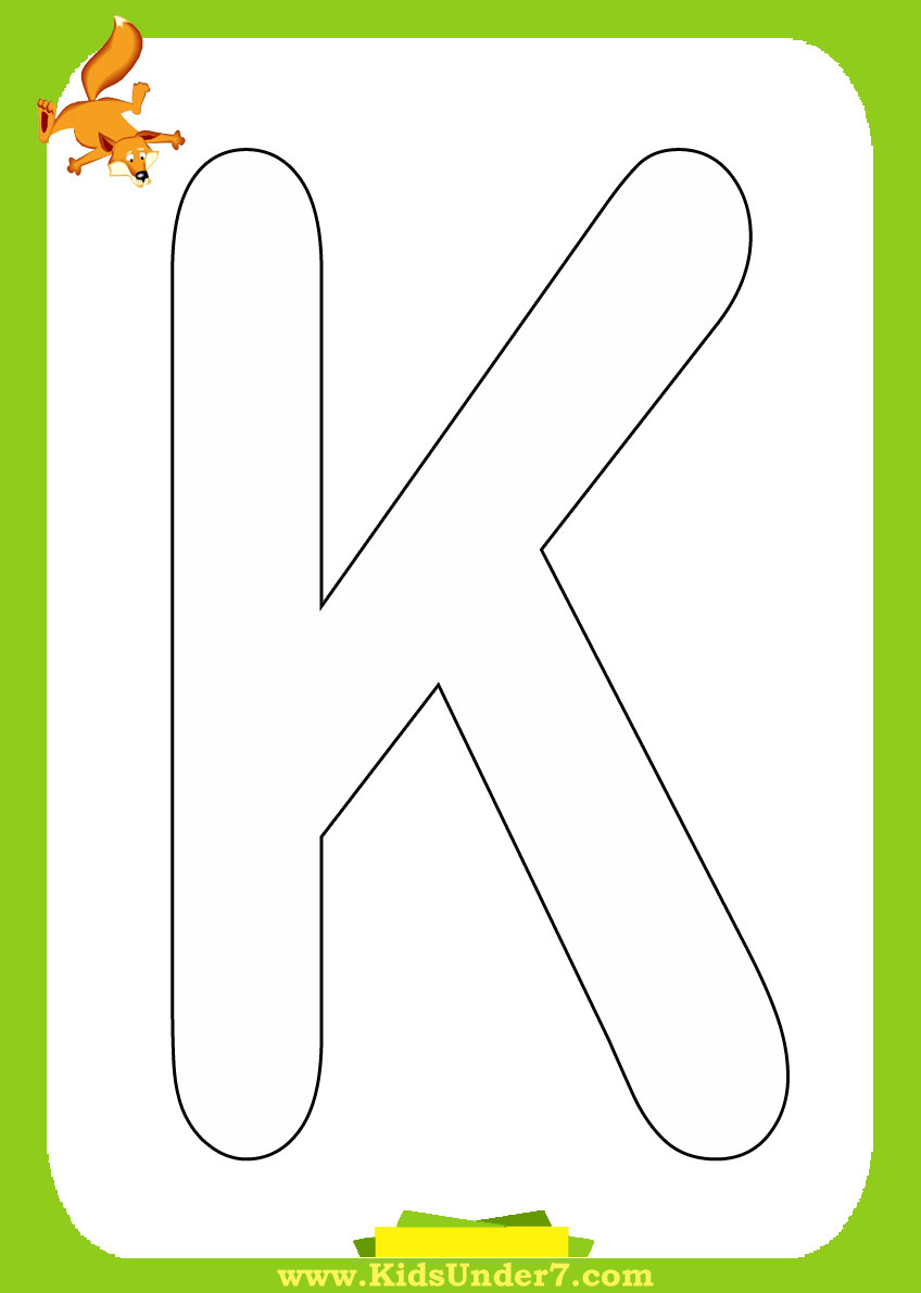 Free Coloring Pages Of Capital Letter K Print