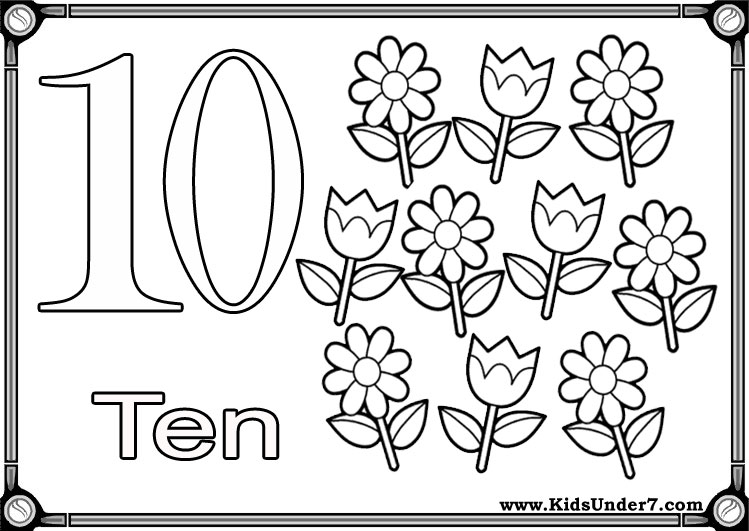 Flash Cards To Learn Numbers Olor By Number Coloring Page