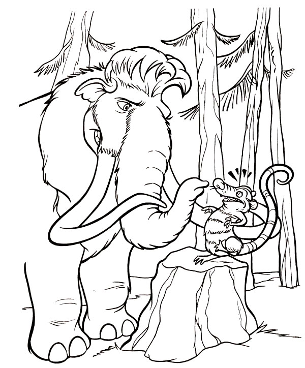 Kids Under 7: Ice Age coloring pages