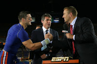 Tebow With Game Day Crew