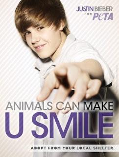 2nd Justin Bieber PETA campaign poster