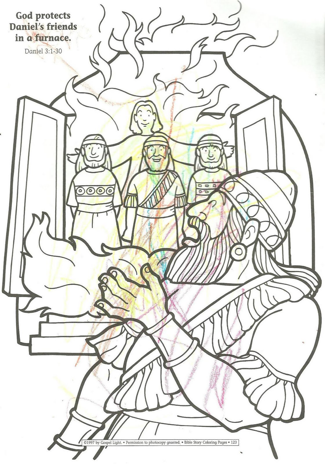 Meshach Abednego Shadrach Coloring Pages Shadrach Meshach And Abednego Coloring Page