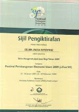 Certificate Anugerah Usahawan