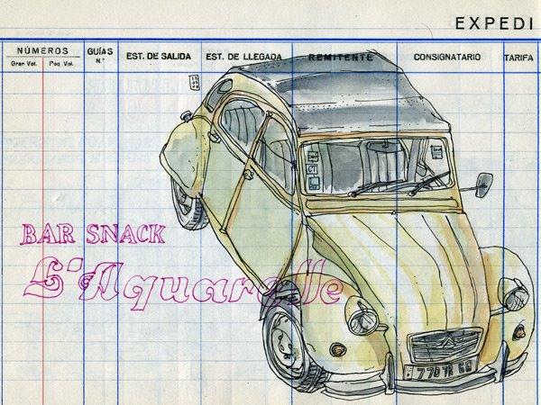 çizim eski arabalar
