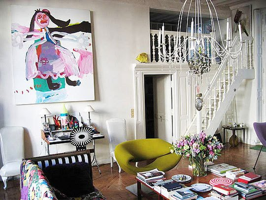 Christian Lacroix's apartment as it was prior to its sale,