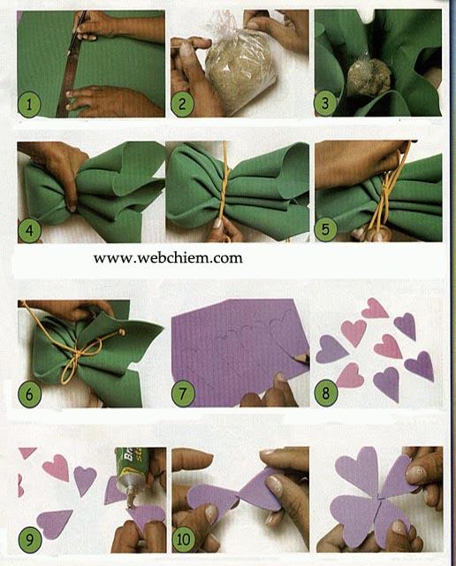 Làm hoa trang trí từ xốp, rất đẹp!
