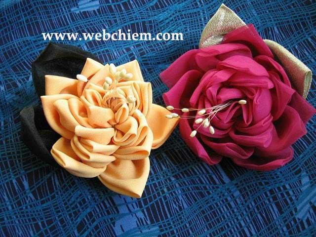 Цветов из ткани своими руками фото