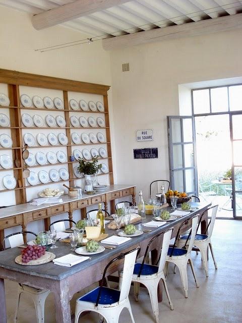 Zinc Covered Table Via Villa Anna