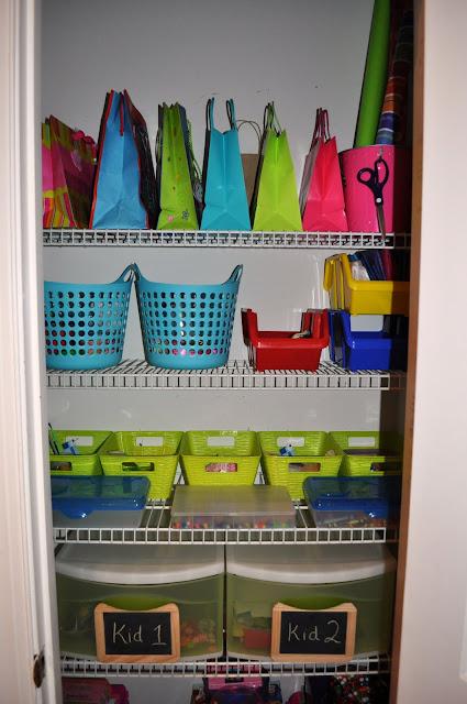A Craft Closet...Organized!