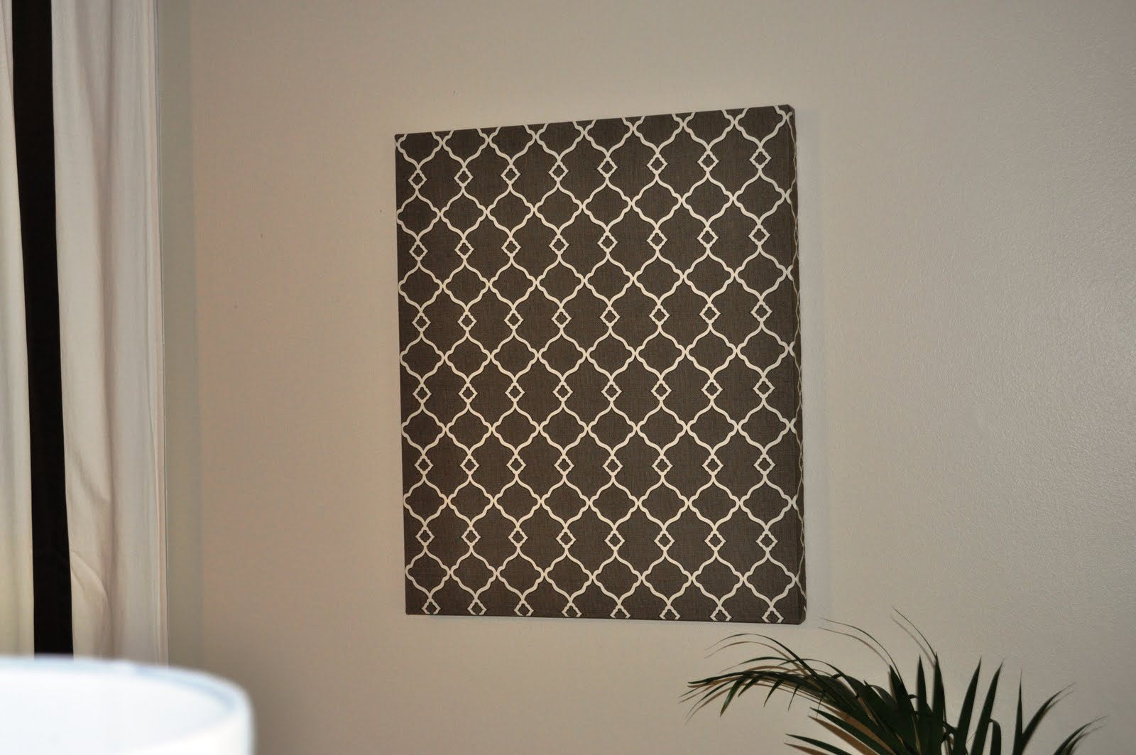 The collected interior quatrefoil fabric wall art for Fabric wall art