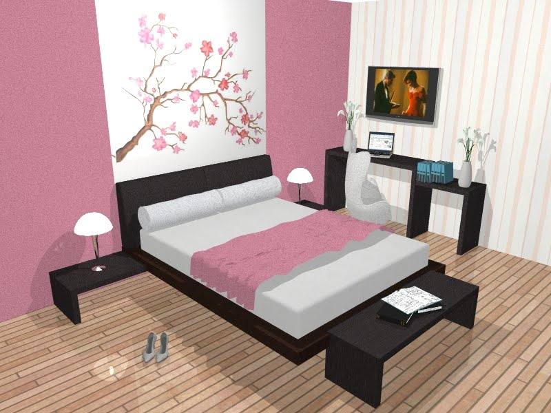 Decoracao De Quarto Estilo Japones ~ neste quarto foi usado cama japonesa com criados baixos e recamier na