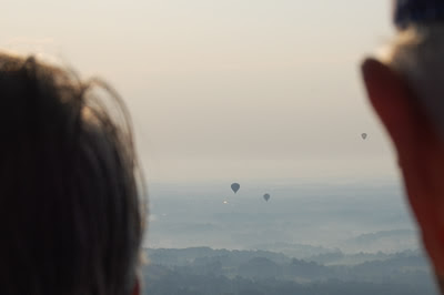 Looking across Chester county from the balloon.