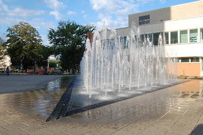 Fountain in front of Korman Building, Drexel University.