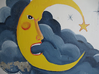Angry moon face