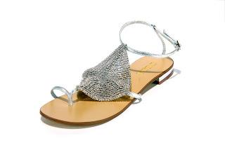 desa svarowski taşlı sandaletler