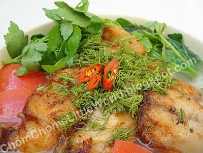 Cách nấu món ăn ngon BunCaR+008 Cách nấu món Bún cá rau cần