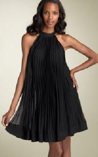 black trapeze cocktail dress