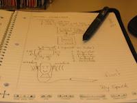 Uma foto do meu caderno e da SmartPen