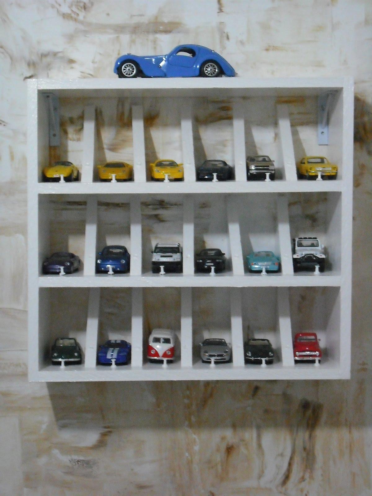 Nicho expositor para carrinhos  Reciclar e Decorar  Blog de Decoração e Rec