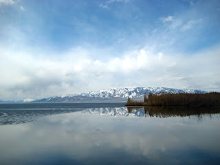 The ice melts on Utah Lake