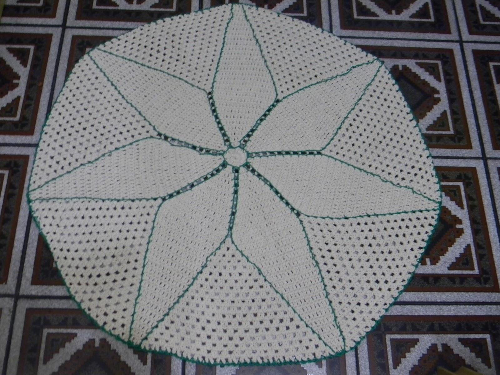 tapete de crochê oval em barbante parte 1 - crochet rug - Holiday and ...