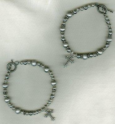 Silver Cross Bracelets