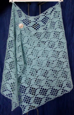 ABC Knitting Patterns - Rectangle Lace Shawl.