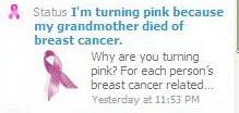 I'm turning pink