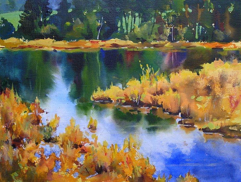 September Marsh Ii Acrylic Landscape