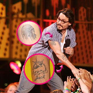 Tatuaje Calavera Johnny Depp johnny depp: tatuajes :)