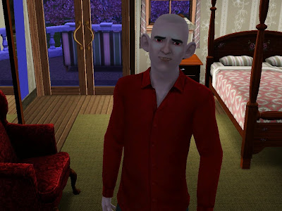 Bonjour, I'm a charmingly hideous Vampire. BTW, why are you in my bedroom??