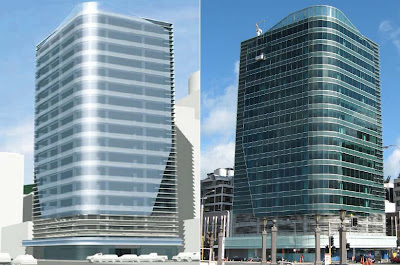 Maritime Tower - render vs real