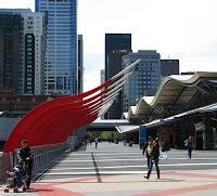 Pedestrian Bridge and Southern Cross Station, Melbourne