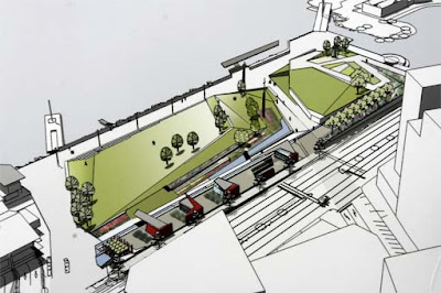 Frank Kitts Park redesign - Option D - oblique view