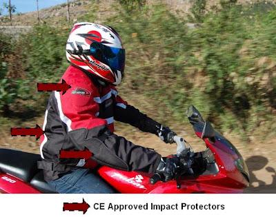 Impact Protectors on the DSG Jacket