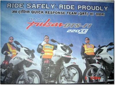 Nepal Police Get Pulsar 220 DTS-Fi