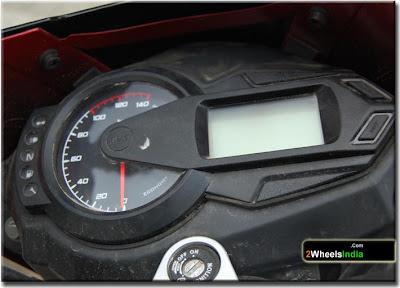 Digital Speedometer Display of the TVS FLame