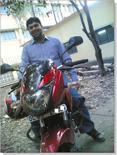 Varun on His Bajaj Pulsar 200 C.C DTSI