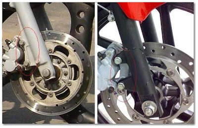 Different Front Disc Brace Designs of Pulsar 180 & 200