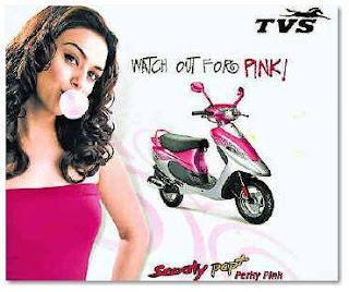 Preity Zinta, Brand Ambassador for TVS Scooty