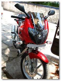 Aditya Bhelke's Red Pulsar 220 DTSF-i