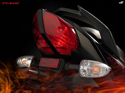 Tail Lamps of the 125 cc TVS Flame
